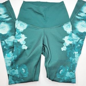 The North Face floral leggings XS teal